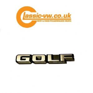 Golf Rear Badge 191853687F GX2, Mk2 & Mk1 Cabriolet